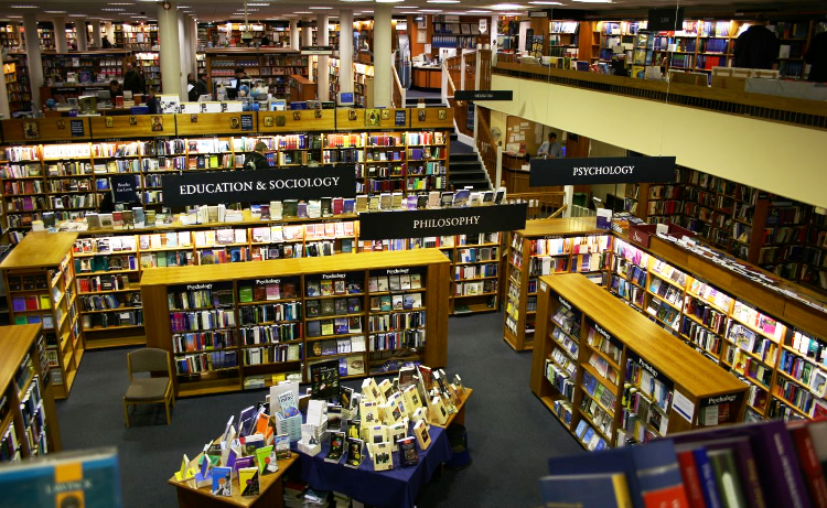 The Norrington Room in Blackwells, one of the most iconic bookshops on our trails