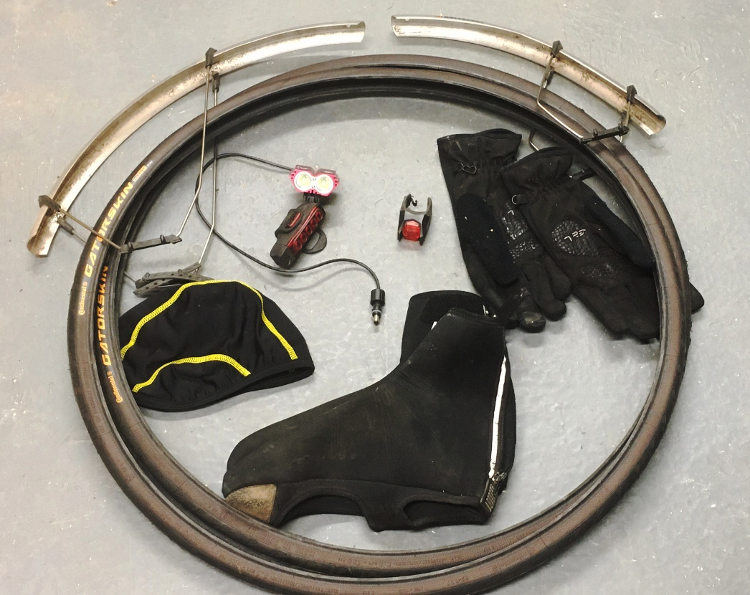 Winter bicycle upgrades laid out: mudguard, tyres, lighting and winter clothing